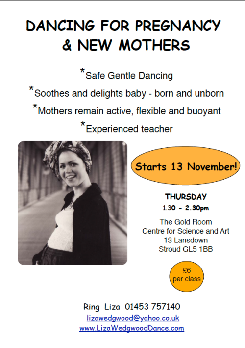 Dance for pregnancy and new mums in Stroud  2014